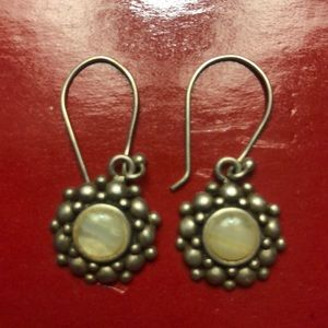 Earrings silver and stone